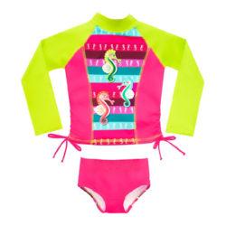traje de baño con proteccion solar para nina