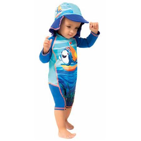 Body para natación UV con Protección Solar UPF 50+ Tiburón Colorfinger