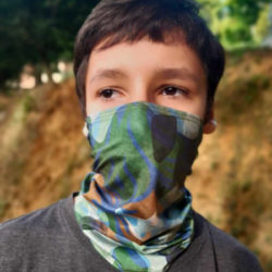 Covid Cubrebocas infantil con proteccion solar UPF 50+