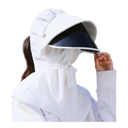 Careta UV con Cubrebocas y Gorro con Protección Solar UPF 50+