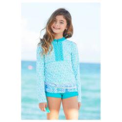 Camiseta UV para niña de natación con protección solar, ropa para la playa con filtro UV CABANA LIFE
