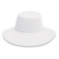 Sombrero para el agua de mar y de albercas con filtro UV con protección solar UPF 50+ WallarooAqua Hat White